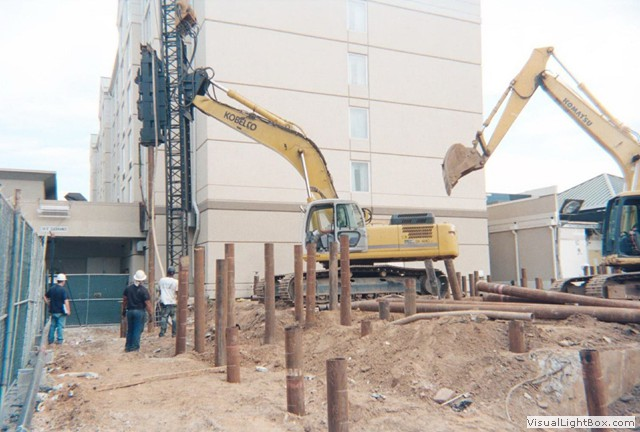 Timber piles steel pipe piles h piles concrete piles for Wood piling foundation cost